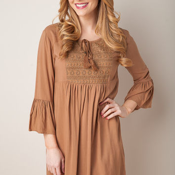 Sleigh Ride Mocha Dress