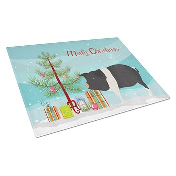 Hampshire Pig Christmas Glass Cutting Board Large BB9306LCB