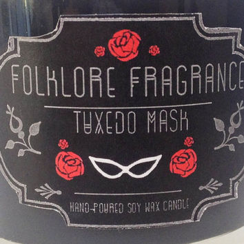 Tuxedo Mask - Sailor Moon Inspired Scented Soy Candle (Vetiver + Cinnamon Bark)