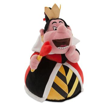 "Licensed cool Disney Store Exclusive Alice In Wonderland 14"" Red Queen Hearts Plush Toy Doll"