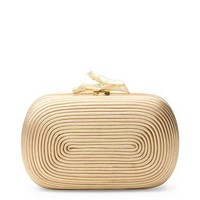 Lytton Coil Leather Clutch