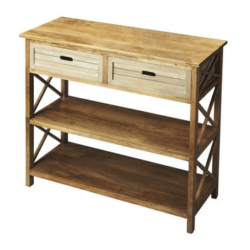 Modern Expressions X Marked Side Console Table