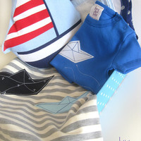 New Baby Gift Set, Nautical themed set for baby boy