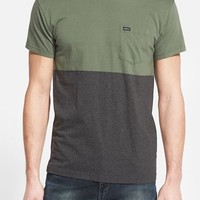 Men's RVCA 'Halfway' Colorblock Crewneck T-Shirt,