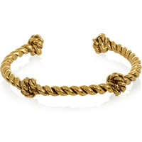Aurélie Bidermann - Knotted gold-plated cuff