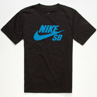 Nike Sb Icon Mezzo Boys T-Shirt Black  In Sizes