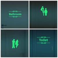 Creative Luminous Wall Stickers Bathroom Decoration Toilet Door Vinyl Wall Art