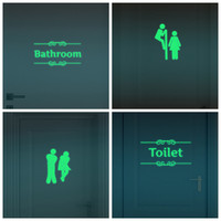Creative Luminous Wall Stickers Bathroom Decoration Toilet Door Vinyl Wall Art Decals Glow in the Dark Quote Sticker Home Decor