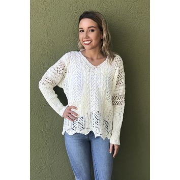 Changing Seasons Top- Ivory