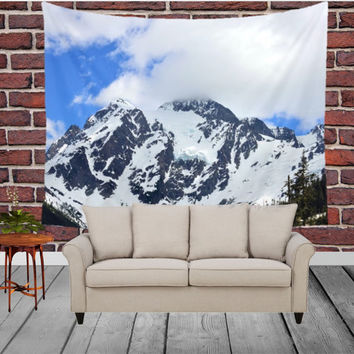 Wall Tapestry - 'All in Snow and Clouds' - Home Decor - Wall Decor, Modern, Home Warming Gift, Symmetry, Bohemian, Boho, Scenery, Nature