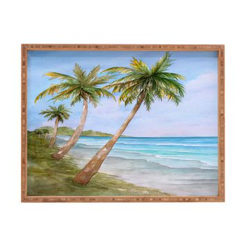 Rosie Brown Swaying Palms Rectangular Tray