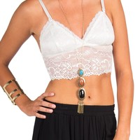 Rehab Clothing - Oh So Sexy Lace Bralette - White