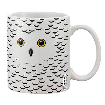 Snowy Owl Cute Animal Face Printed 11oz Coffee Mug All Over Print