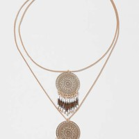 Filigree Disc Drop Multirow Necklace - New In This Week - New In