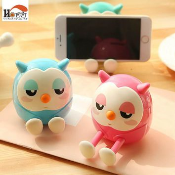 1x CUSHAWFAMILY Mini owl Coin Money Bank Saving Pot Money Box Piggy Bank multi-function phone stents Kids Gifts Home decorations