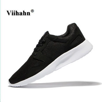 Viihahn Mens Outdoor Athletic Sport Running Shoes Spring And Summer Walking Shoes Breathable Mesh Trainer Lace Up Light Sneakers