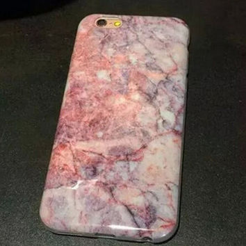 Pink Marble iPhone 6 6S Plus Cases Gift