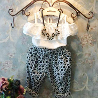 Girls 1 Piece Top and Harem Pants Outfit