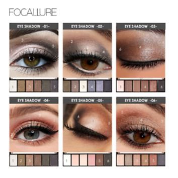 Pro 6 Colors Eyeshadow Makeup Set Waterproof Smudge High Pigment palette New