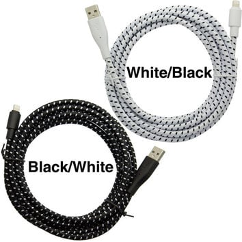 Apple MFi Certified 10ft/3m Super Heavy Duty 8pin Lightning to USB Charger Data Cable Cord for iPhone 5 5s, 6 Plus, iPad mini, iPod nano 10'