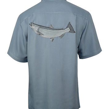 Men's King Salmon Embroidered Fishing Shirt