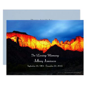 Celebration of Life Invitation Glowing Sunrise