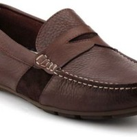 Sperry Top-Sider Wave Driver Penny Loafer DarkBrownLeather, Size 9M  Men's Shoes