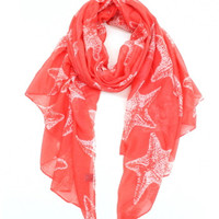 Cozy by LuLu - Starfish Scarf in Coral