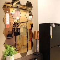 Mirrored Hexagonal Wall Decoration (7 Pc)