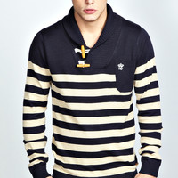Toggle Stripe Jumper