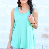 Go with the Flow Basic Tank {Mint}