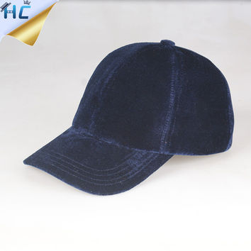 New Brand Gorras Female Snapback Baseball Caps Velvet hat For Women Solid  Curved Brim Cap Adjustable f5c23d8f3df