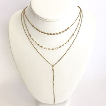 Look Divine Pearl Layered Necklace in Gold
