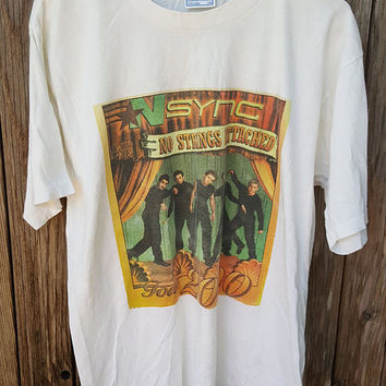 RARE Vintage NSYNC No Strings Attached T-Shirt - large