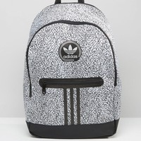 adidas Originals | adidas Originals Backpack With Print In Black AY7837 at ASOS