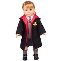 Hermione Granger- Inspired Doll Clothes for American Girl Dolls: 6pc Hogwarts-like School Uniform with Robe