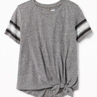 Tie-Hem Jersey Tee for Girls | Old Navy