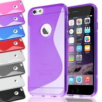 Soft S-Line Wave TPU Rubber Gel Back Case Cover Skin for iPhone 7 + Screen Guard | eBay