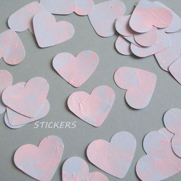 50 hearts planner stickers pink and blue wedding decals stickers label guest book shower invitation envelope scrapbooking lasoffittadiste