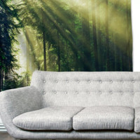Snow Tree Forest Hills Gypsy Unique Dorm Home Decor Wall Art Tapestry