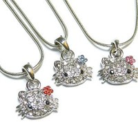 Hello Kitty Crystal Necklace