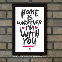 11x17 Framed Typography Prints - Cute Home Decor - Finger Paint Style - Tearproof Prints (5 Available Designs)