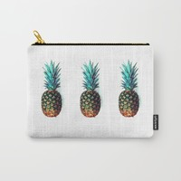 tri soldier pineapples Carry-All Pouch by Yilan