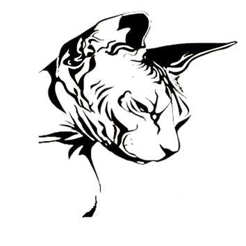 21.7*22.9CM Car Sticker Sphynx Cat Decal Fashion Vinyl Car Styling Nice Cool Motorcycle Accessories Black/Silver S1-0198