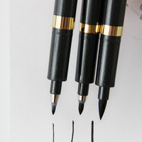 3pcs Chinese Japanese Calligraphy Brush Pen Neutral Multi-Function Pen Office School Writing Tools