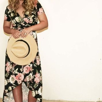 """Sophie"" Hi-Low Tropical Floral Maxi Dress FINAL SALE!"