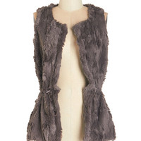 ModCloth Mid-length Sleeveless Cute and Hirsute Vest