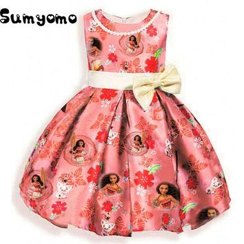 Toddler Princess Dress Moana for Girls Clothes Teenage Robe Fillette Costumes Children Clothing Trolls Dresses Kids 12 Years Old
