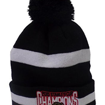 Chicago Blackhawks New Era 2015 Stanley Cup Champions Two-Tone Knit Hat - Black