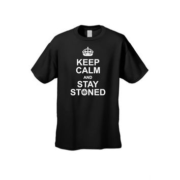 Men's/Unisex Keep Calm And Stay Stoned Short Sleeve T-Shirt